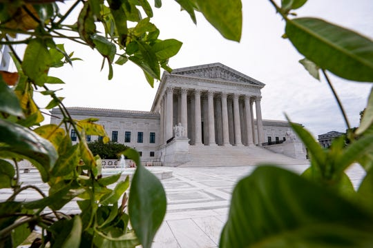 The Supreme Court is seen in Washington, early Monday, June 15.