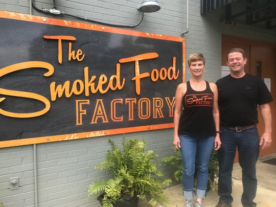 Lorena and Billy Smith planned to offer only catering service at The Smoked Food Factory. But the coronavirus pandemic forced them to change their business plan and add carryout service.