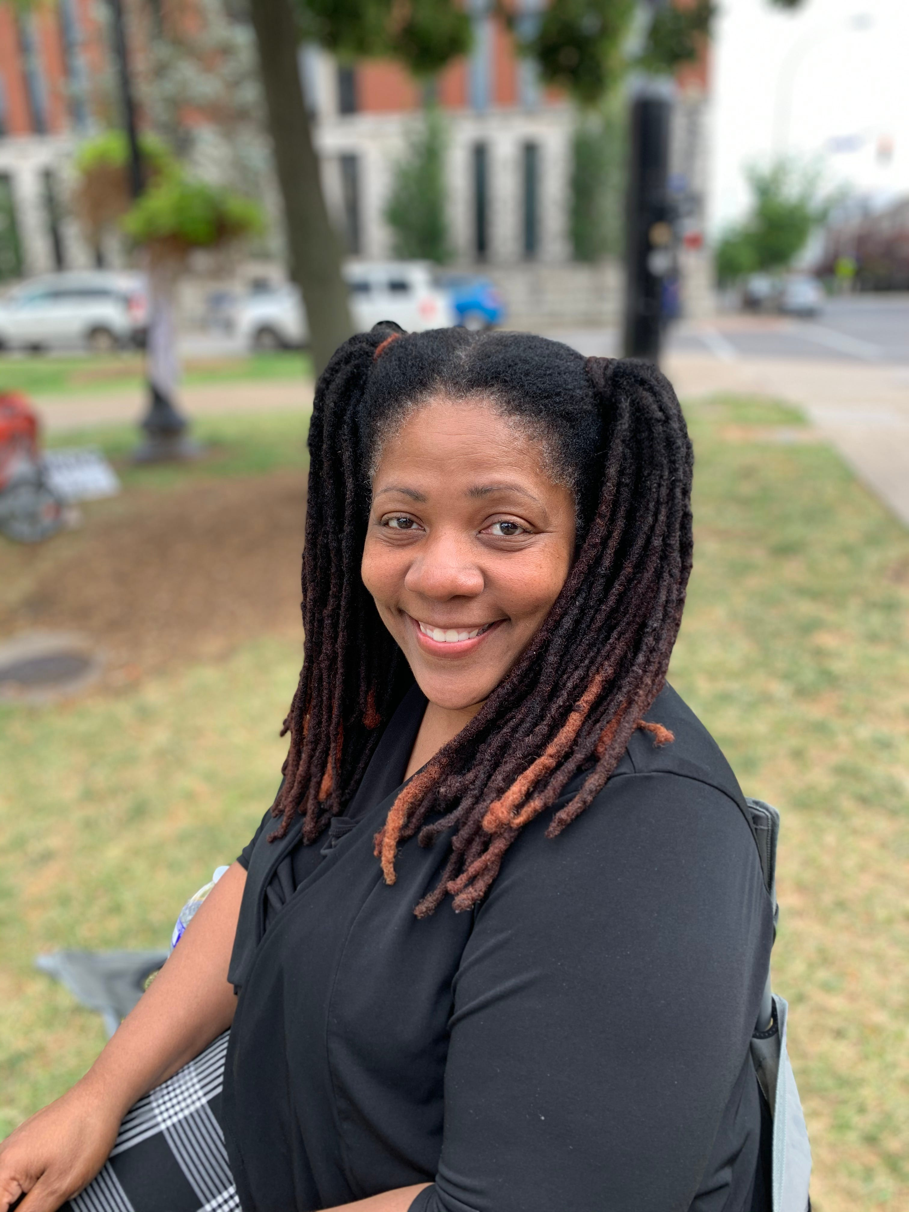 """Gwendolyn Atkinson-Sample and the Voters Coalition of Louisville have spent the last few weeks assisting with voter registration. """"It's imperative and essential that we are out here to just educate people to vote."""""""