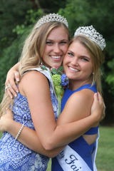 Mariah Richardson, right, crowned Waukesha County's Fairest of the Fair 2021, poses with her cousin Robyn Schanau, who was crowned Fairest of the Fair in 2014.
