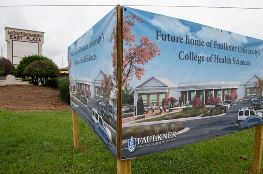 The former Burlington Coat Factory building will become Faulkner University's new College of Health Sciences at the Montgomery East Plaza in Montgomery, Ala., on Thursday, June 25, 2020.