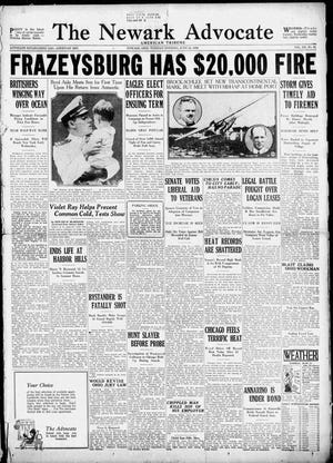 This front page of the the June 24, 1930 edition of The Newark Advocate.