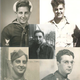 Clockwise from left to right: John, Francis, Joseph, Wesley, and Anthony (center) returned home safe from World War II.