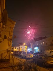 Fireworks light up the sky in Paterson on a June 2020 evening, but officials would prefer it would only on occasion not on a regular basis.