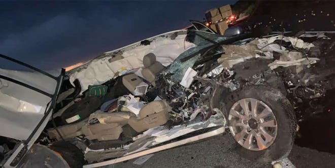 A Las Cruces man was transported to a local hospital following a crash on Interstate 25 near Radium Springs on Wednesday, June 24, 2020.