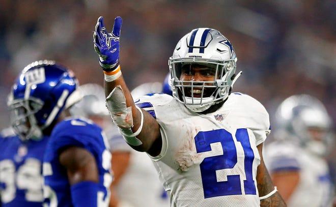 En la imagen un registro de Ezekiel Elliott, corredor de los Cowboys de Dallas.