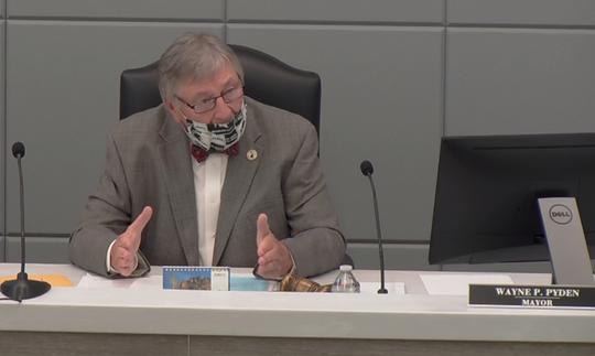 Marysville Mayor Wayne Pyden speaks during a City Council meeting on Monday, June 22, 2020.