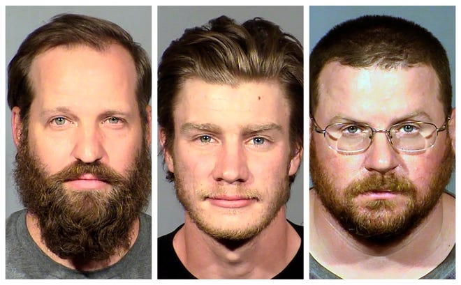 From left: Stephen T. Parshall, 36; Andrew T. Lynam Jr., 23; and William L. Loomis, 40.