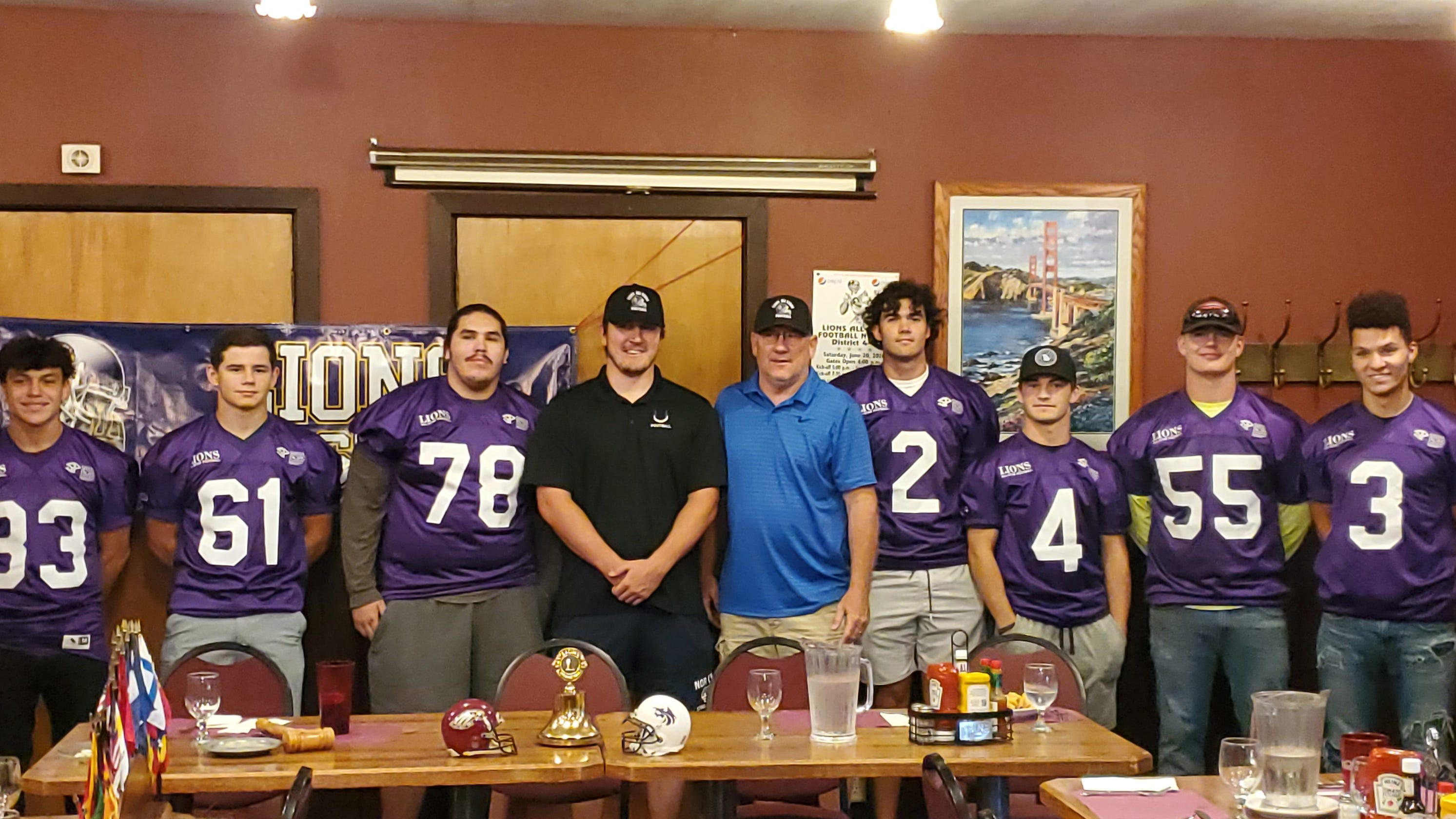 Lions Club pays tribute to these seven all-star football athletes from the Redding area