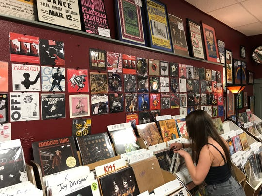 Customers have waited two hours in line to get a chance to peruse titles during the going out of business sale at Ranch Records, which has been operating downtown since 1982.