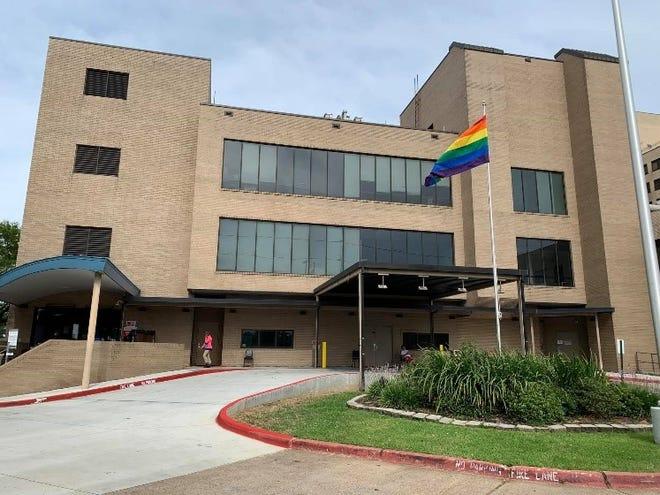 Ochsner LSU Health Shreveport flies the Pride flag during June LGBT Pride Month.