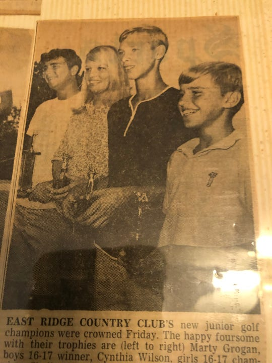 Former LSU golfer Shelby Houston (third from left) passed away on Thursday.