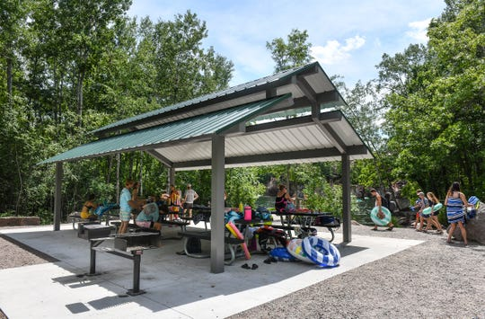 A newly-constructed shelter is in place at the Melrose Deep Seven quarry Thursday, June 25, 2020, at Quarry Park in Waite Park.