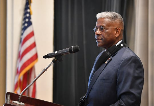 Retired Lt. Col. Allen West was the keynote speaker for the Wichita County Republican Women's Lincoln-Reagan Dinner Thursday evening at The Forum. West is also a former member of the U.S. House of Representatives.