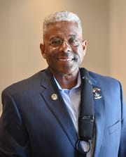Allen West is a retired lieutenant colonel in the U.S. Army and former member of the U.S. House of Representatives. West was the keynote speaker at the Lincoln-Reagan Dinner presented by the Wichita County Republican Women on Thursday.