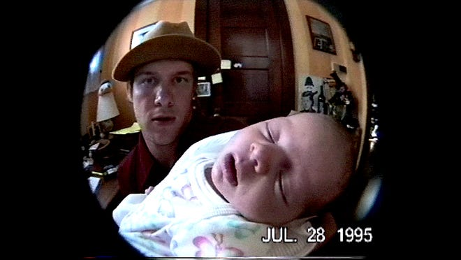 "A home video shows Blind Melon singer Shannon Hoon holding his baby daughter five months before his death in the documentary ""All I Can Say."""
