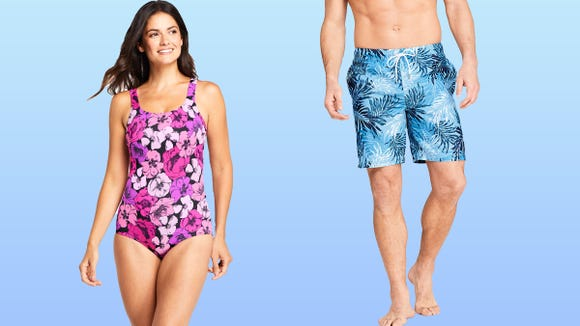 Size-inclusive swimwear at Lands' End is up to 74% off right now - USA TODAY