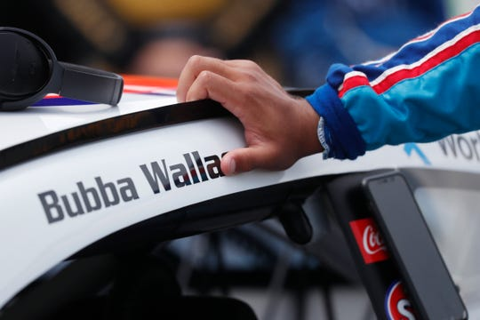 Bubba Wallace has received abuse but also support after a noose was found in his garage at the Talladega Superspeedway.
