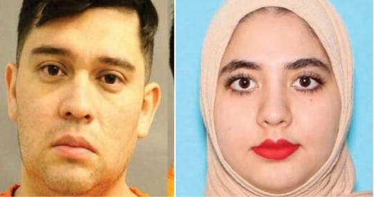 Jose Felan Jr., 33, and Mena Dyaha Yousif, 31, are wanted in connection with several arsons in Minnesota. Authorities say the couple was in the Coastal Bend area.