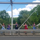 Califon Public School's Class of 2020 stands along the borough's historic bridge. The pre-K-8 school aims to boost its small enrollment through a tuition program.