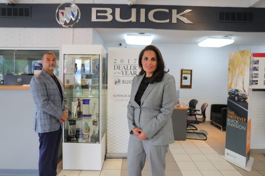 Bas and Tanya Robin at their Superior Buick Cadillac GMC dealership in Dearborn Friday, June 26, 2020.