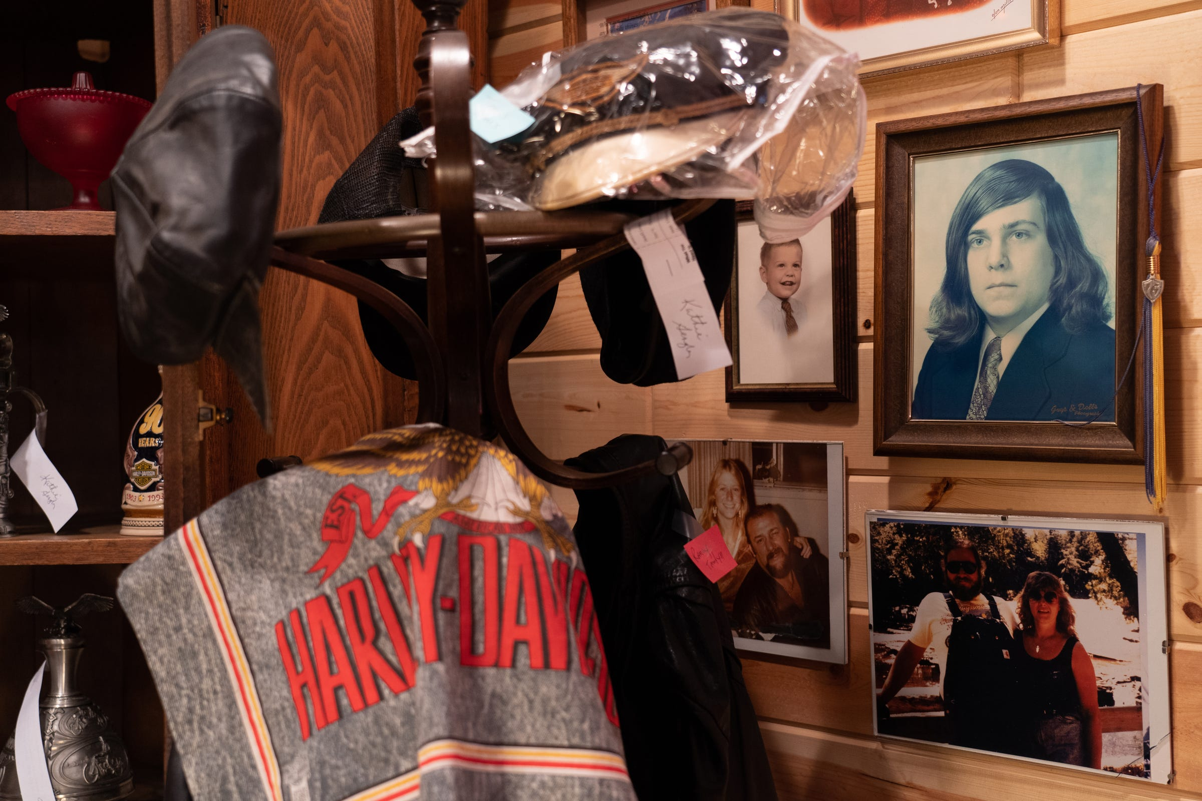 Items belonging to the late Kevin Moses at the Museum of Moses in Vogel Center on Monday, June 15, 2020. The motorcycles and other things Harley-Davidson related that were collected by Moses, who passed away from head and neck cancer in 2010, are all up for sale as his sister and mother prepare to move away and close the museum after 10 years.