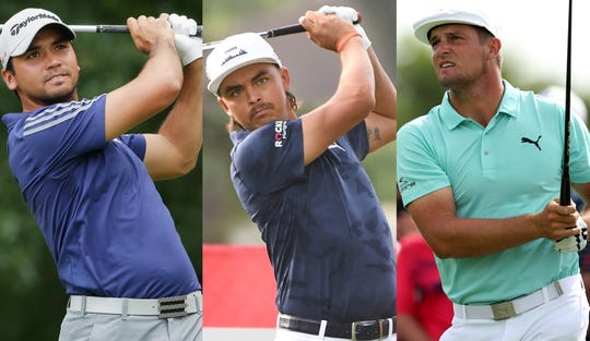 Jason Day, from left, Rickie Fowler and Bryson DeChambeau headline the Rocket Mortgage Classic field.