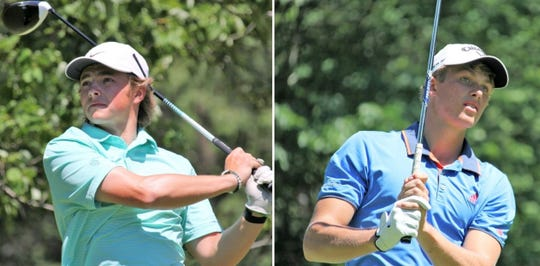 MSU's James Piot, left, and incoming MSU freshmen August Meekhof will square off in the Michigan Amateur semifinals on Friday.