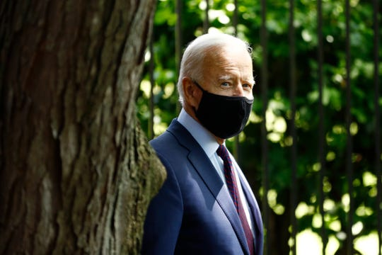 Democratic presidential candidate, former Vice President Joe Biden arrives to speak with families who have benefited from the Affordable Care Act, Thursday, June 25, 2020, in Lancaster, Pa.