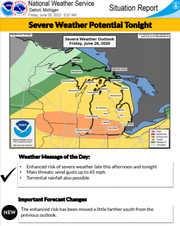 There's is an 'enhanced risk' of severe weather in parts of southern Michigan on Friday.