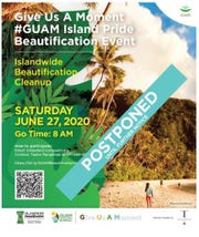 The islandwide cleanup set for June 27 has been postponed.