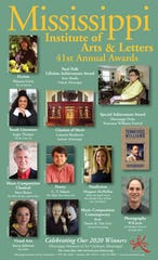 The Mississippi Institute of Arts and Letters announced its 2020 award recipients June 26.