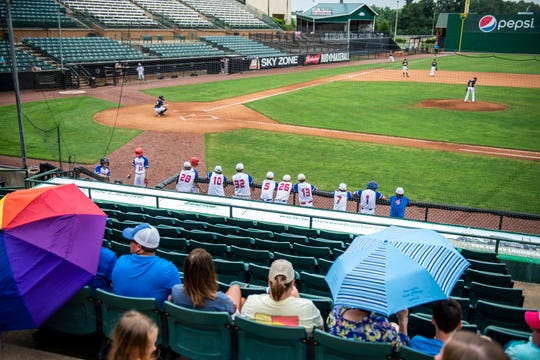 The Ballpark at Jackson reopens the stadium and field for the local teams in Madison County. Families and friends visit the ball park to support their team at the park in Jackson, Tenn., Friday, June, 26, 2020.
