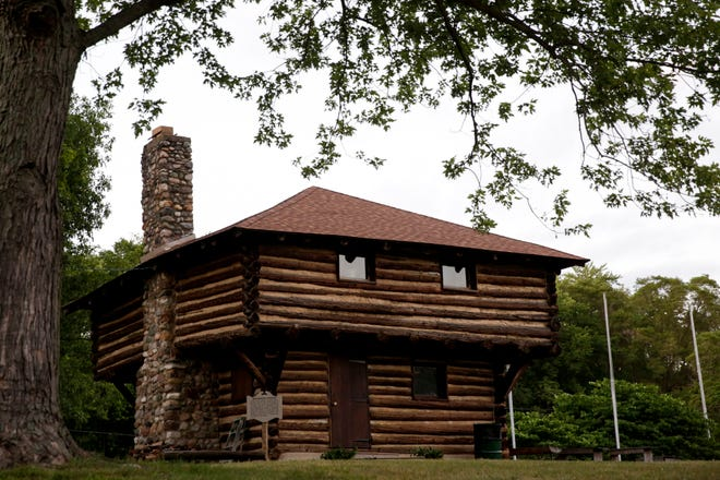 The Fort Ouiatenon blockhouse, Thursday, June 25, 2020, in West Lafayette.