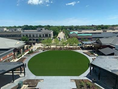 Bayshore's newly renovated public square, known as The Yard, opens July 10.