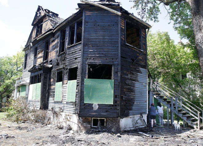 The house was set on fire twice during civil unrest in June.