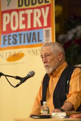 Beat poet Gary Snyder, pictured at the 2014 Geraldine R. Dodge Poetry Festival in Newark.