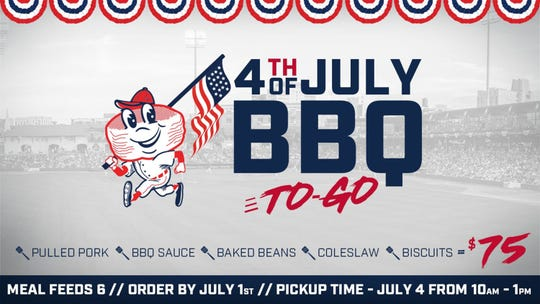 The Montgomery Biscuits are offering a to-go BBQ package for the Fourth of July.
