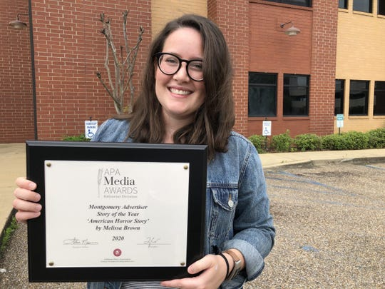 Melissa Brown, an enterprise reporter, was awarded the Story of the Year by the Alabama Press Association for her piece on Alabama's prison system.