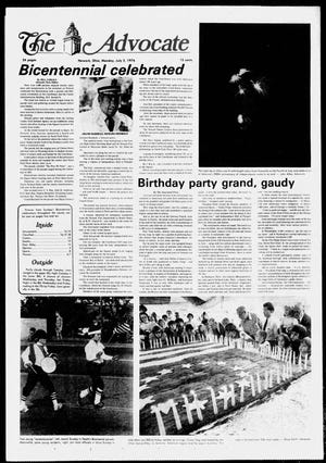 The July 5, 1976 edition of The Advocate covered the U.S. Bicentennial celebrations held locally and across the country.