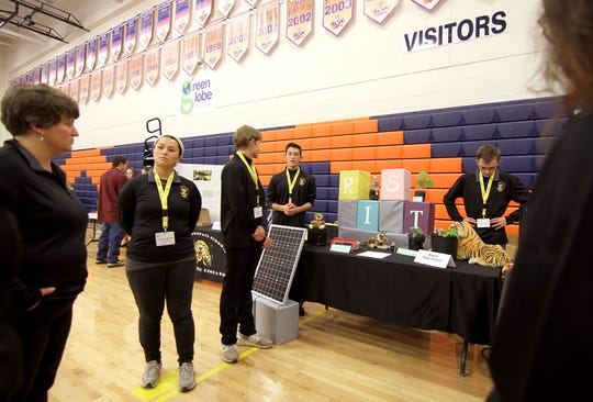 A statewide STEM Showcase at Los Lunas High School in December 2019 was the final event for the first-ever New Mexico Governor's STEM Challenge program. More than 600 students from 65 New Mexico high schools attempted the challenge. New Mexico State University will host the 2020 statewide showcase Dec. 5.