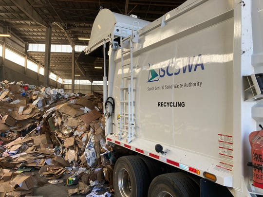 Residents can do their part in keeping recycling moving by making sure that only accepted recyclables go into blue bins — no food waste, no plastic bags and no trash.