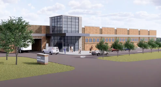A rendering of what the proposed self-storage facility replacing the former Toys R Us in Livonia would look like. This rendering was taken via a screenshot during a virtual planning commission meeting held June 23.