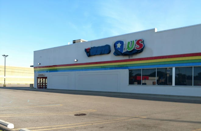 The former Toys R Us on Seven Mile east of Middlebelt in Livonia.