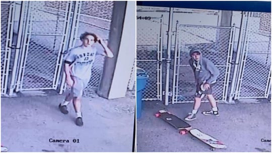 Police are looking for these suspects in connection with vandalism and burglary at the York Fairgrounds.