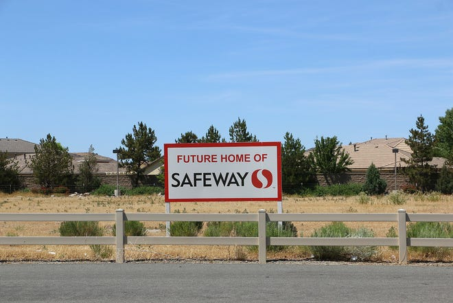 The site of a new Safeway at 1031 Steamboat Parkway is seen in Reno on June 26, 2020.