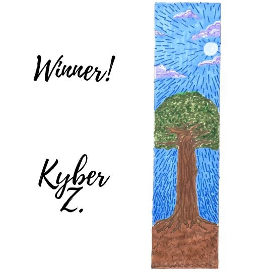 """The Tom Green County Library recently wrapped up its """"Imagine Your Story"""" bookmark contest. Kyber Zemlock was one of the top three winners."""
