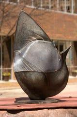 Lithic Bird II, a sculpture by Nathan Johansen.