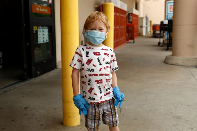 You're never too young to stay safe and help keep other safe.  This young customer complies with the new Leon County ordinance, effective June 25, mandating masks be worn by customers in public indoor spaces such as restaurants and retail stores.
