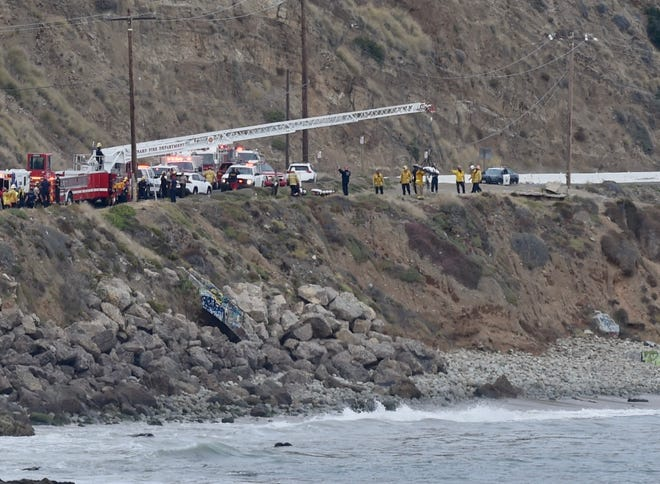 Three people were swept off the rocks and into the ocean near Mugu Rock on Thursday, June 25, 2020.